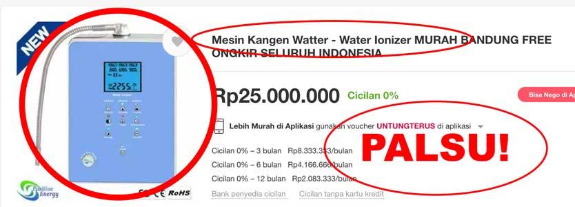 Mesin Kangen Water Palsu Vs Asli