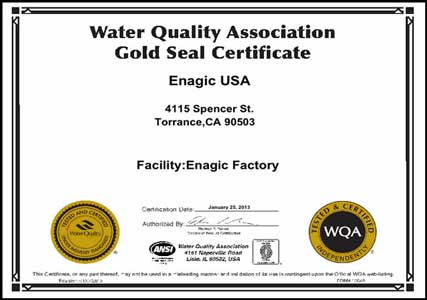 kangen water gold seal certification